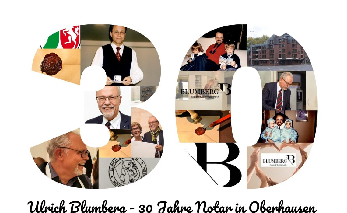30 Jahre Notar Ulrich Blumberg